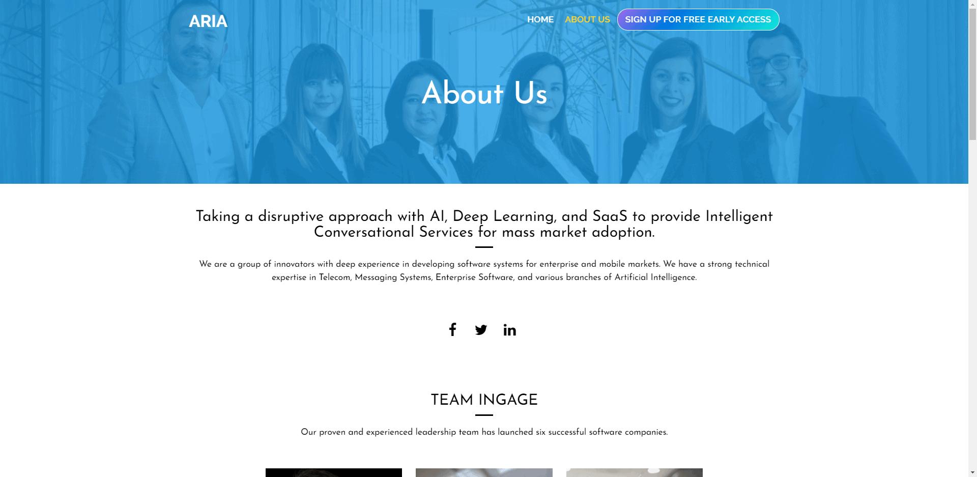 Ingage.ai - Corporate Website Design - About us - Cleverativity