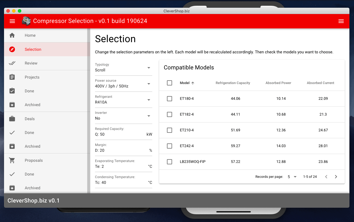 Tailor-made CPQ Software - Web, Android, and iOS Product Selector, Configurator App - Mac OS