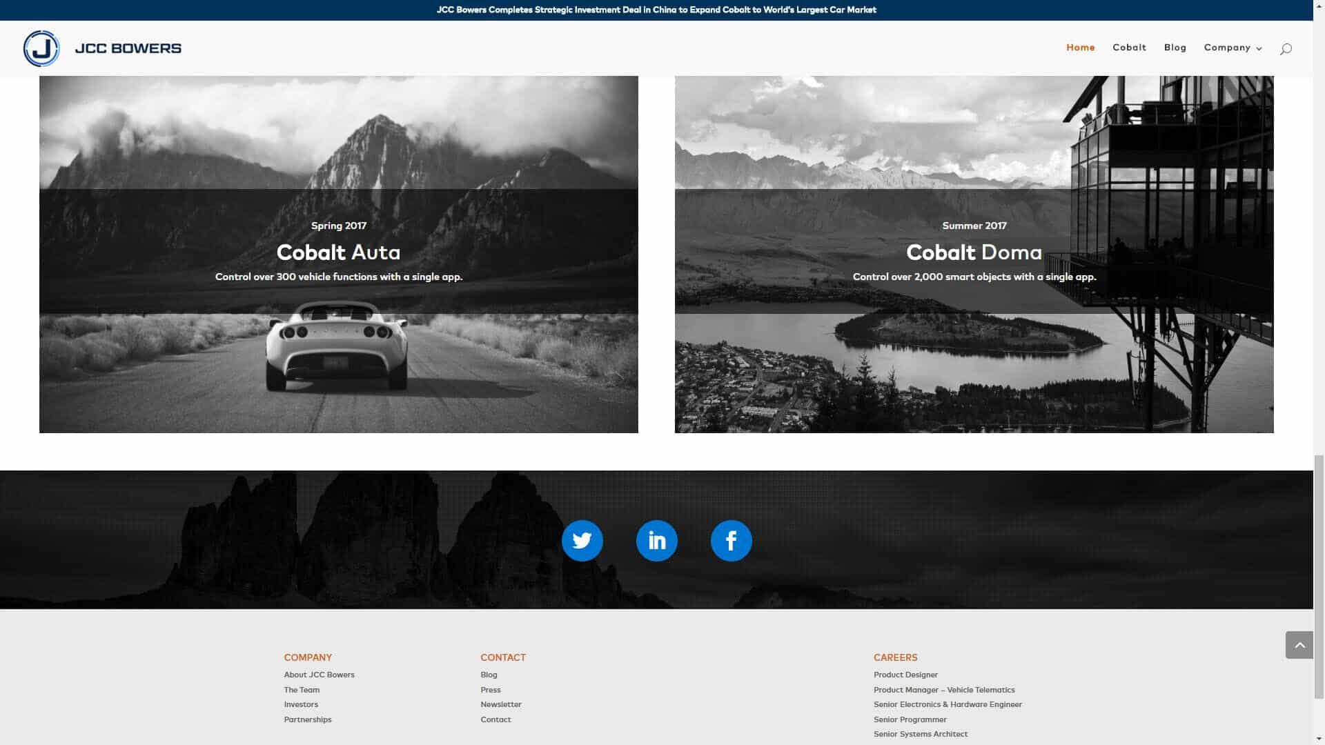 JCC Bowers - Corporate Website Design