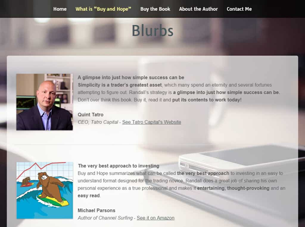 Randall Mauro Homepage Cleverativity blurps