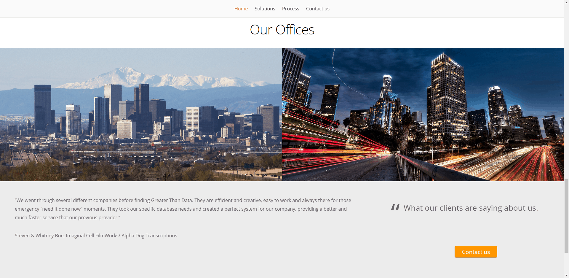 Greater Than Data – Corporate Website Design